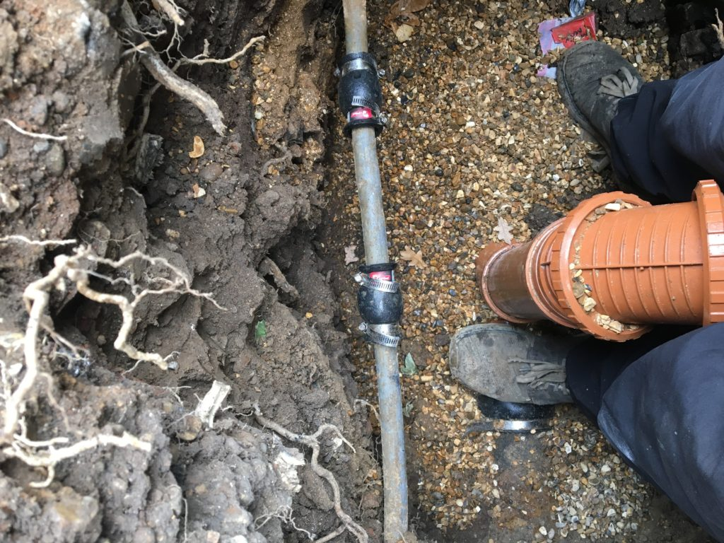 Cast iron pipework drain maintain for Leaky pipe carries more water